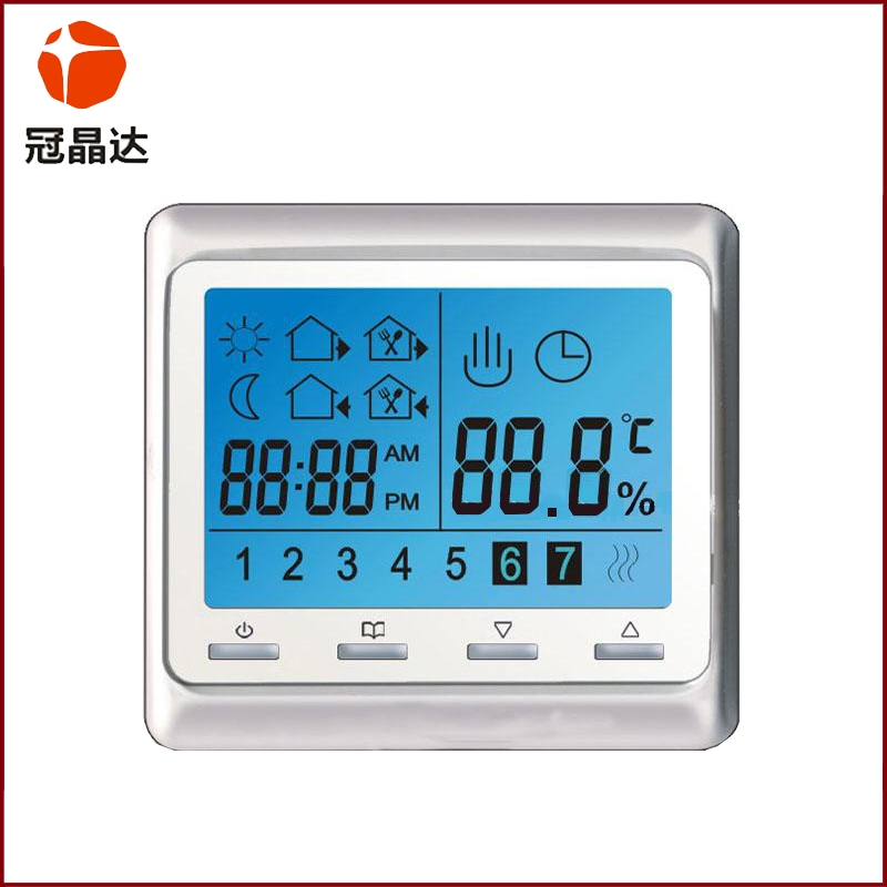 Central air-conditioning thermostat LCD screen
